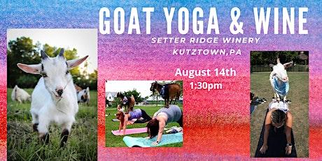 Goat Yoga & Wine @ Setter Ridge Winery tickets