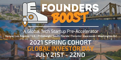 Global Investor Day by FoundersBoost Pre-Accelerator, July 21st - 22nd tickets