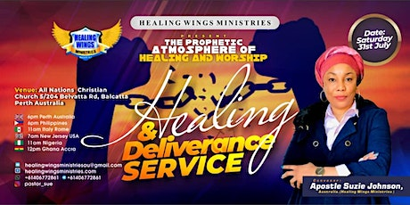 Copy of Healing and Deliverance Service tickets