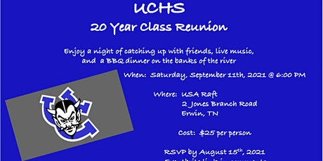 UCHS Class of 2001:  20 Year Reunion tickets