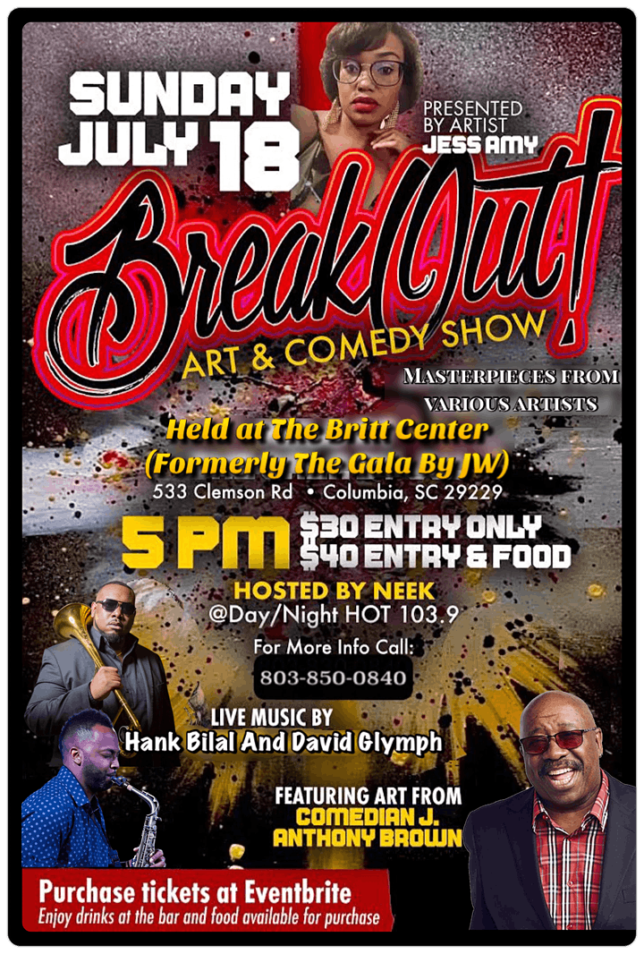 Breakout Art and Comedy Show by  Jess Amy and J. Anthony Brown image