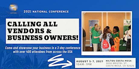 Vendor Fair! Advertise your business. August 5-7, 2021 tickets