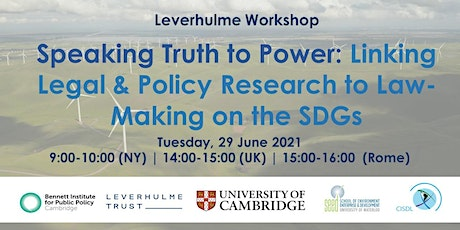 Linking Legal & Policy Research to Law-Making on the SDGs tickets