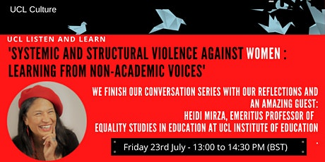 UCL Listen & Learn - Systemic and structural violence against women tickets
