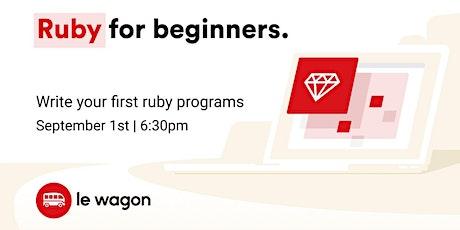 [Free workshop] Ruby Sprint tickets