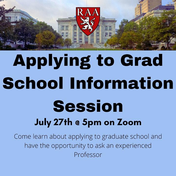 HMS RAA Graduate School Information Session image