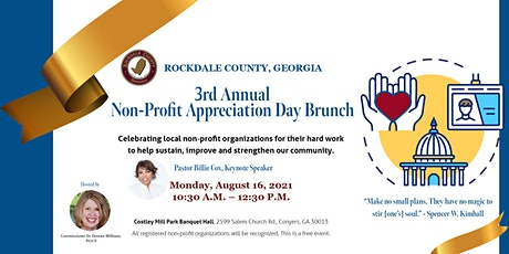 Rockdale County 3rd Annual Non-Profit Appreciation Day Brunch tickets