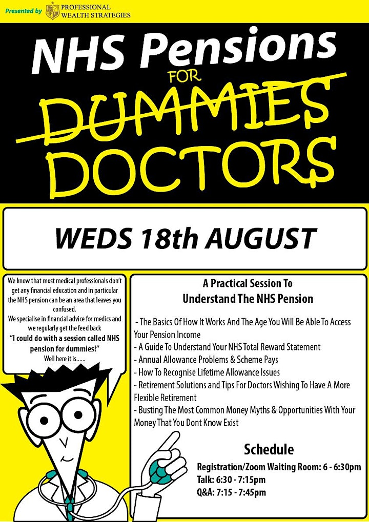 NHS Pensions For Dummies/Doctors - For Charity! image