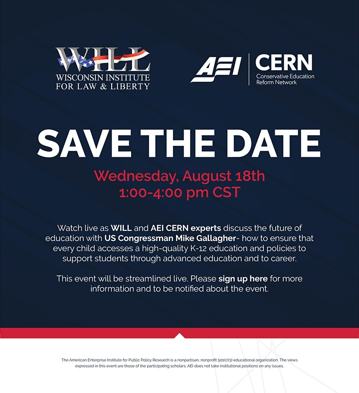 A conversation on education reform with WILL, AEI & Rep. Mike Gallagher image