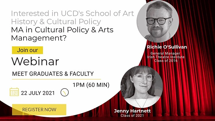 Meet graduates and Faculty of UCD's MA in Cultural Policy & Arts Management image