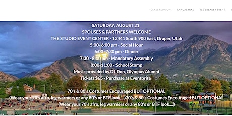 Back to the 80's - Olympus High Class of 1981 - 40th Reunion tickets