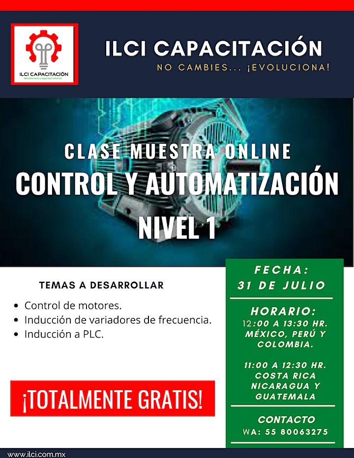 """Imagen de Clase Muestra Online GRATUITA """"Control y Automatización Nivel 1""""."""