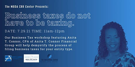 Business Tax Workshop: Business Taxes Do Not Have To Be Taxing tickets