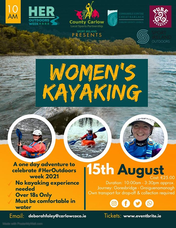 Women's Kayaking 15th August - Her Outdoors Week 2021 image