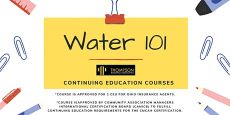 Water 101 CE tickets