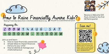 Copy of Zoom Webinar: How to Raise Financially Aware Kids? tickets
