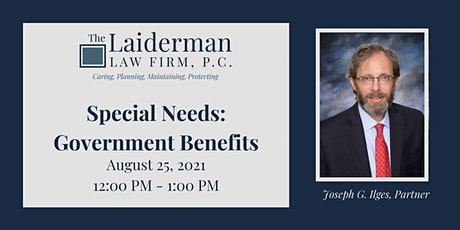 Special Needs: Government Benefits Webinar tickets