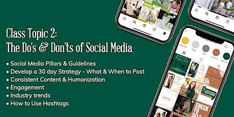 The Do's & Don'ts of Social Media biglietti