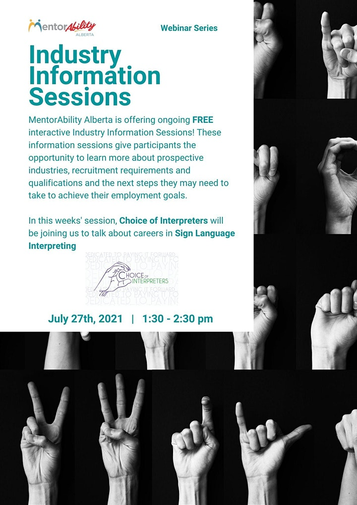 MentorAbility Industry Information Session: Sign Language Interpreters image