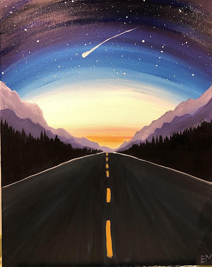 "Calgary ""take me to the mountains"" paint night image"
