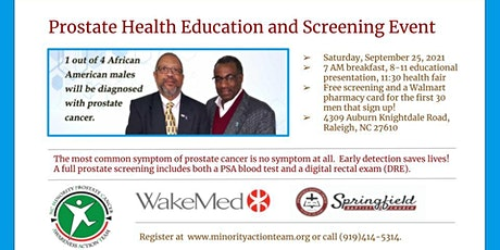 Prostate Health Education and Screening Event tickets