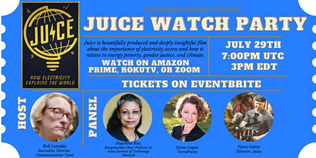 *Screening* Juice: How Electricity Explains the World tickets
