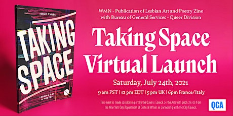 """WMN - Lesbian Art and Poetry: Virtual Launch for issue 3 """"Taking Space"""" tickets"""