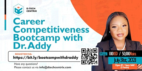 Career Competitiveness Bootcamp with Dr. Addy tickets
