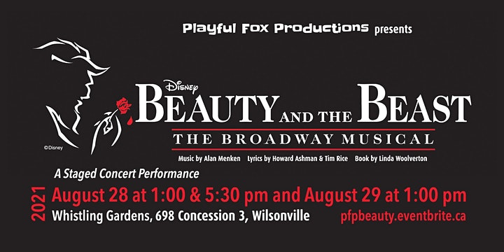 """Playful Fox Productions Presents: """"Disney's Beauty and the Beast"""" image"""