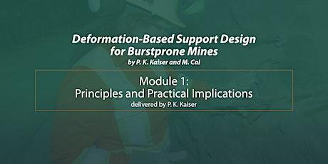 Deformation-Based Support Design for Burstprone Mines - Module 1 tickets