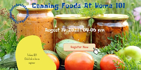Canning foods at home 101 biglietti