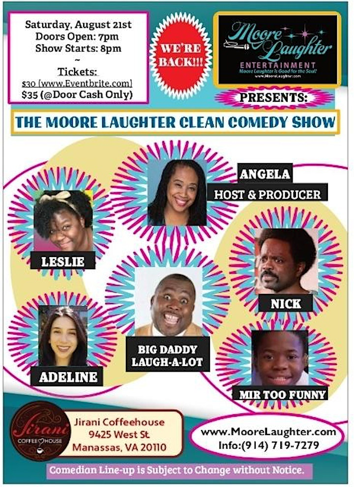 The Moore Laughter Clean Comedy Show (No Cursing, No Vulgarity) image