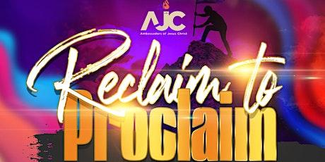 Regional Youth Service: Reclaim to Proclaim tickets