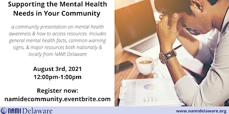 Supporting the Mental Health Needs in Your Community tickets