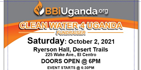 BBI - CLEAN WATER 4 UGANDA, Featuring Gene and Gloria Brister entradas