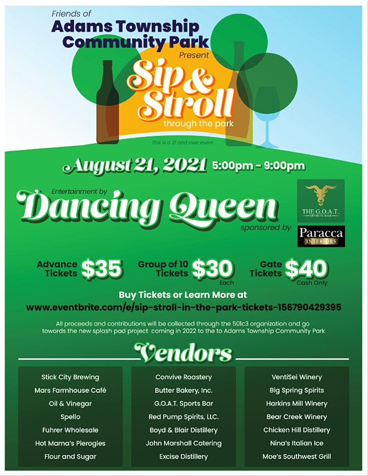 Sip & Stroll in the Park image