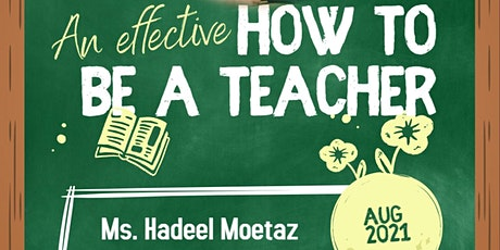 How To be an Effective Teacher  ( Leader of learning ) tickets