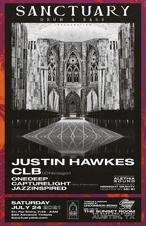 Sanctuary Drum & Bass Presents Justin Hawkes & CLB image