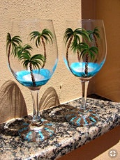 Pour & Paint Wine Glasses Palms tickets