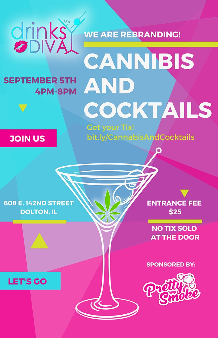 Drinks By A Divas- Rebranding Party  -Cannabis & Cocktails image