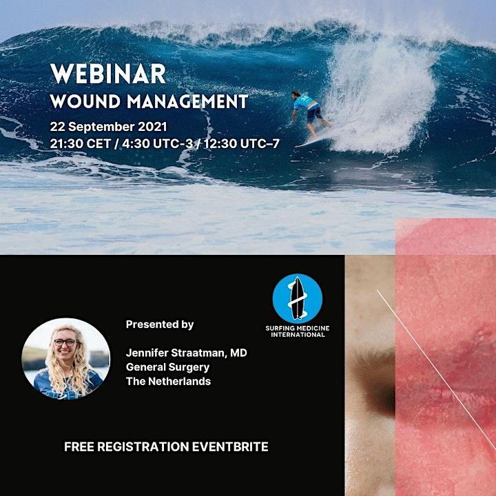 Surfing Medicine International Webinar - Cases on wound management image