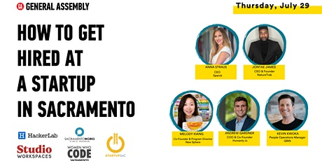 General Assembly   How to Get Hired at a Startup in Sacramento tickets