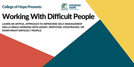 Working With Difficult People tickets