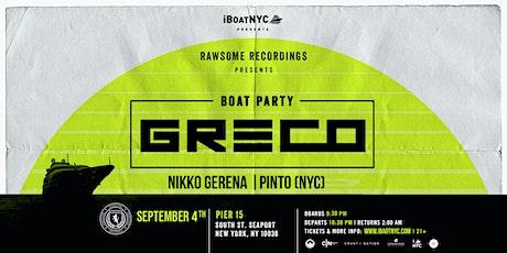 GRECO Presents RAWSOME Records NYC Boat Party Cruise tickets