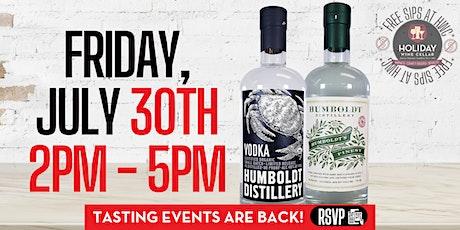 #FREEsips w/ Humboldt Organic Vodka & Humboldt Finest Hemp Infused Vodka tickets