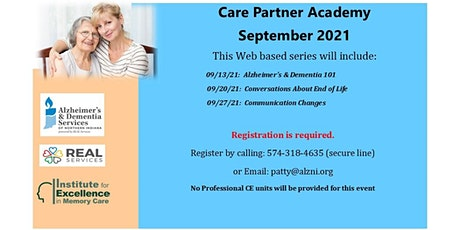 September Care Partner Academy- Session 3:  Communication Changes tickets