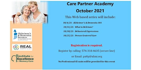 October Care Partner Academy- Session 1:  Alzheimer's & Dementia 101 tickets