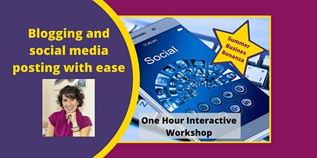 Blogging and social media posting with ease tickets
