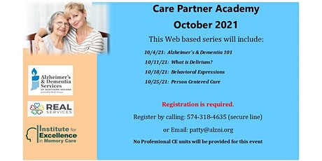 October Care Partner Academy- Session 4:  Person Centered Care tickets