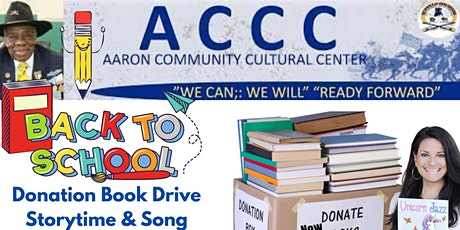 Back to School Storytime, Song Event Plus Donation Drive and Giveaways tickets